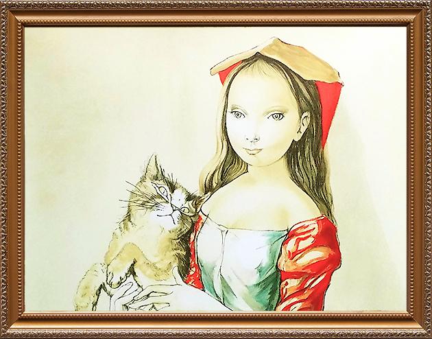 猫を抱いた少女
